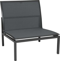 Lounge middle element Skelby aluminum anthracite with cover textilen carbon