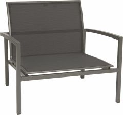Lounge armchair Skelby aluminum graphite with cover textilen silver grey