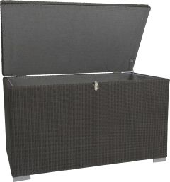 Cushionbox 169x83x106 cm with wicker basalt grey