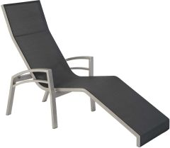 Relaxliege Balance Comfort aluminum graphite with cover textilen silver grey