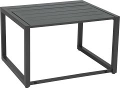 Function side table Novus aluminum anthracite with aluminum slats