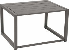 Function side table Novus aluminum graphite with aluminum slats