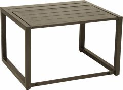 Function side table Novus aluminum taupe with aluminum slats