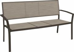 Bench Allround aluminum taupe with textilen cashmere