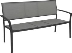 Bench Allround aluminum anthracite with textilen silver