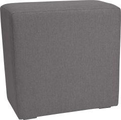 Back part 80x42x80 cm Domino aluminum with cover outdoor fabric Dessin dark grey