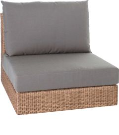Corpus middle element Fontana wicker cinnamon with cushion Dessin fawn brown