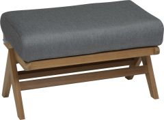 Lounge stool Jackie teak naturalal with cushion Dessin silk grey