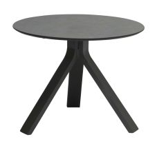Side table Freddie Ø 55 cm aluminum anthracite with table top Silverstar 2.0 decor Smoky