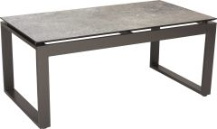 Side table Allround aluminium anthracite with table top Silverstar 2.0 decor Vintage stone