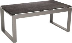Side table Allround aluminium graphite with table top Silverstar 2.0 decor Vintage grey