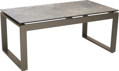 Side table Allround aluminium taupe with table top Silverstar 2.0 decor Vintage stone