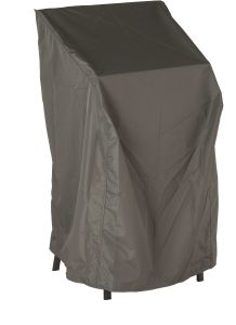 Protective cover for 4-6 stacking armchair with ties & hook-and-loop-fastener grey