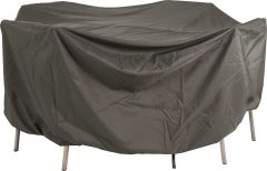 Protective cover for furniture group oval 220x320x90 cm with ties und elastic band grey
