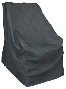 Protective cover for armchair Greta with ties & hook-and-loop-fastener grey