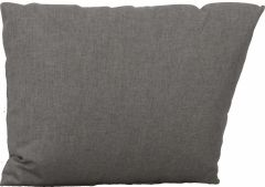 Side cushion for corner element Fontana polyacrylic Dessin silk grey