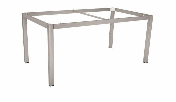 Table Frame 160x90 Cm Stainless Steel Square Tube