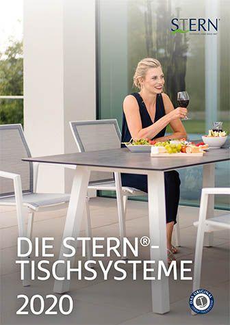 Stern Gartenmoebel Tischsystem Flyer 2020